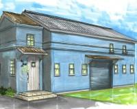 津市、倉庫改装、外観イメージパース