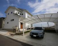 新築住宅、外構工事、カーポート取付